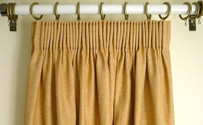 Pencil pleat heading sartorial soft furnishings for Pencil pleat curtains on track